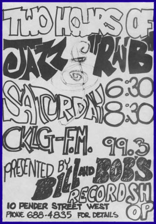 Bill and Bob's CKLG-FM poster